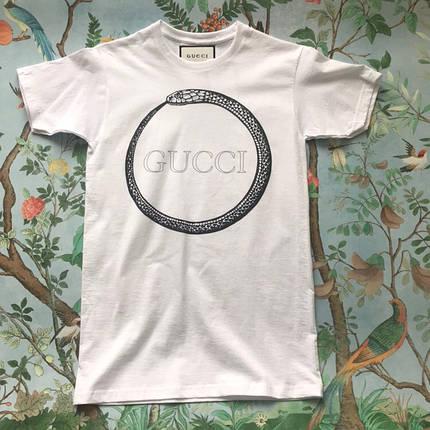Белая футболка Gucci snake, фото 2
