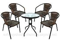Комплект садовой мебели 4 стула + столик Telehit