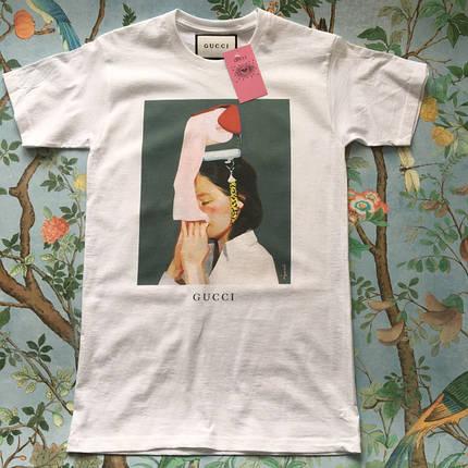 Gucci футболка белая. Бирки ориг, фото 2