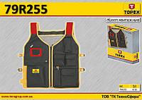 Жилет для инструмента 7 карманов,  TOPEX  79R255