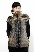 Стильный жилет из меха койота, размер универсальный!