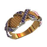 Кольцо  женское серебряное Сирень, фото 2