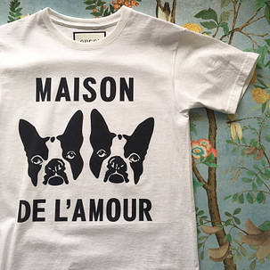 Gucci Maison. Белая футболка Gucci. Мужская футболка,  люксовая, фото 2