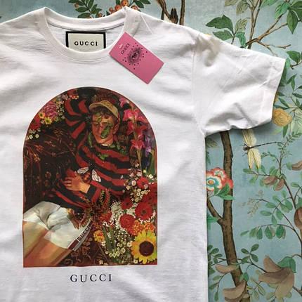 GUCCI. Достойная белая футболка, фото 2