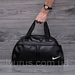 Фітнес-сумка найк, Nike для тренувань. Чорна. Кожзам