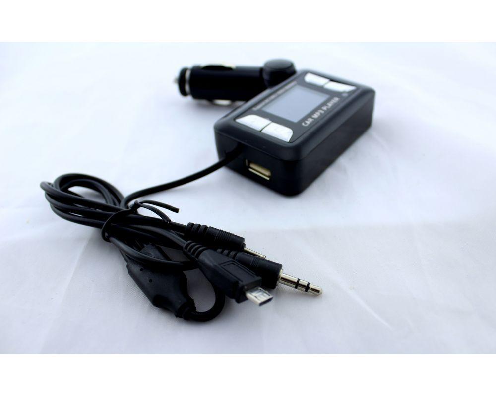 Фм-Модулятор, Трансмиттер FM MOD 151 с зарядкой  для телефона от прикуривателя и от сети