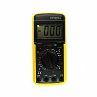 Мультиметр с ЖК дисплеем универсальный Digital DT-9205A цифровой