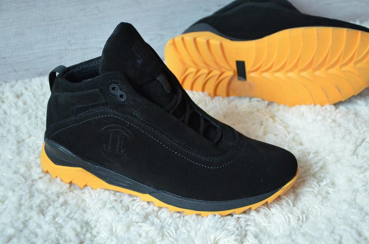 483f37158 Зимние мужские ботинки Level, натур. мех, замша, черные - Интернет-магазин