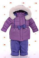 Зимний комбез на флисе фиолетовый