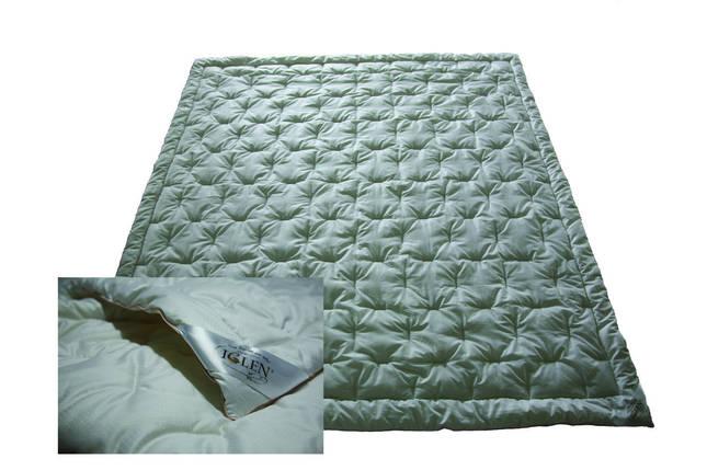 Одеяло зимнее IGLEN 140х205 с наполнителем 100% шерсть в тике, фото 2