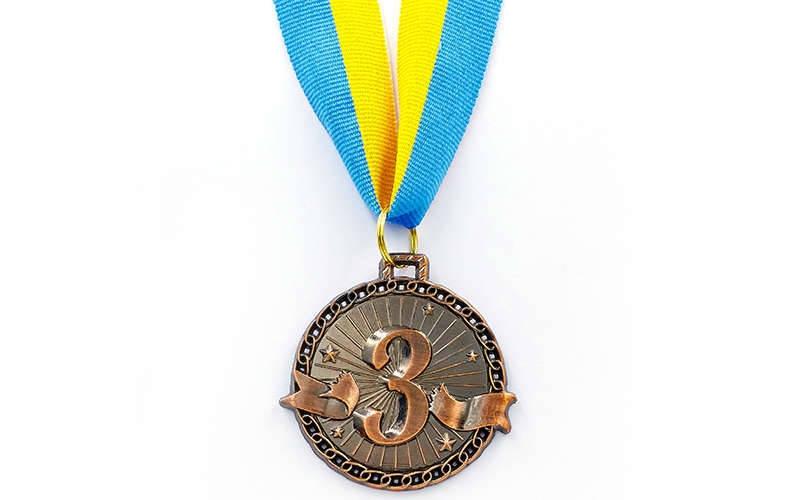 Медаль спорт d-4,5см C-6404-3 бронза ZIP (20g, на ленте)