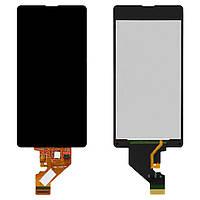 Дисплейный модуль (экран и сенсор) для Sony Xperia Z1 Compact (Mini) D5503, черный, оригинал