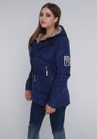 Стильная женская куртка с золотистым капюшоном (50р), доставка по Украине, фото 1