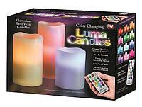 Ночник Luma Candles Color Changing комплект 3 свечи