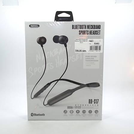Гарнитура bluetooth Remax Sport RB-S17 black (RB-S17BK) EAN/UPC: 6954851290742, фото 2