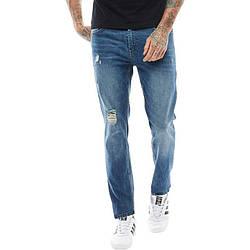 Мужские зауженные джинсы DFND London синие оригинал