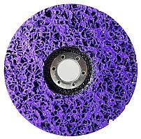"""Зачистной круг Polystar Abrasive """"Водоросли"""" из неткан. абразива, фиолетовый, 125*22 мм (PAF125-22)"""