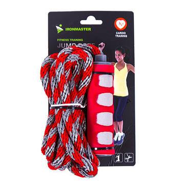 Скакалка IronMaster с плетеным жгутом (длина 2,8 м)