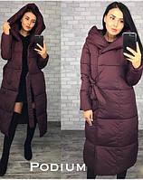 Зимнее пальто, плащевка, наполнитель силикон 200. Размер: С,М Цвета разные (5276)