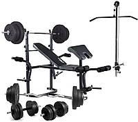 Скамья Trex 1020 тяга , скотта набор штанга 98 кг