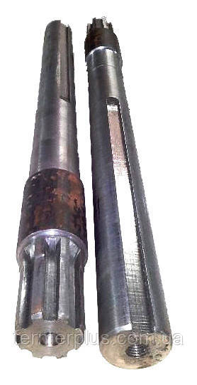 Полуось на мотоблок удлинённая (L = 600 мм., 6 шлицов, пара)
