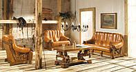 Кожаный комплект meble-pyka 3r+2+1 польская мебель пика