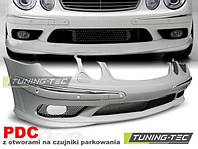 Бампер передний Mercedes E W211 (2002-2006)  стиль AMG  материал: ABS-пластик