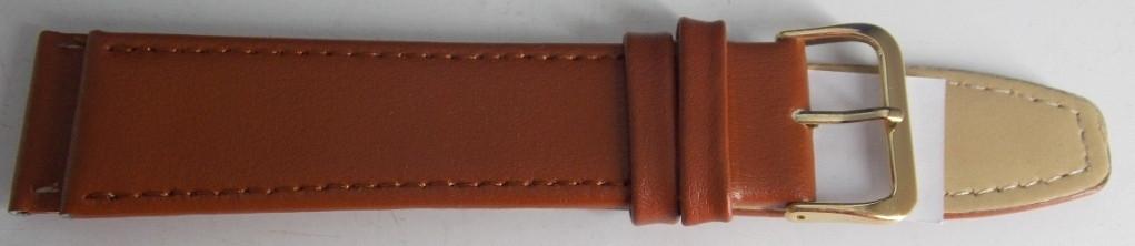 Ремешок кожаный LUX-PL (Польша) 22 мм, светло-коричневый