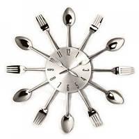 """Акция !!! Оригинальные настенные часы на кухню 2 вида : """"Вилки ложки"""" и """"Вилки ложки половники"""""""