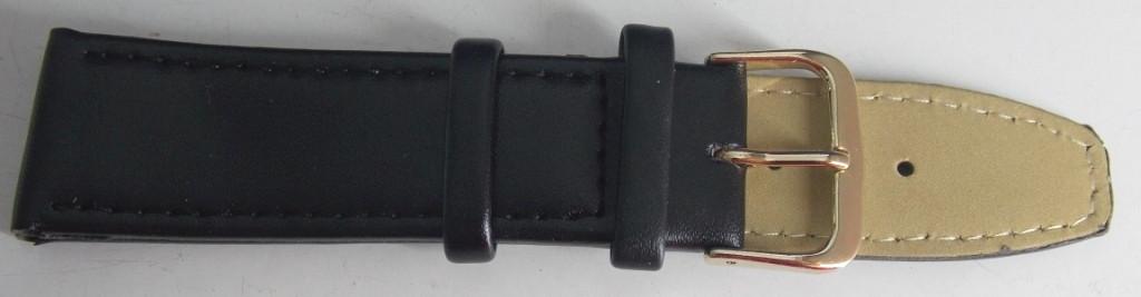 Ремешок кожаный LUX-PL (Польша) 22 мм, черный