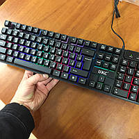 Игровая клавиатура с подсветкой UKC KR- 6300 LED геймерская keyboard