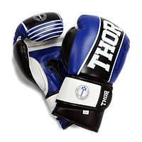 Перчатки для бокса THOR THUNDER (PU) BLUE