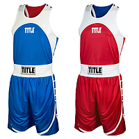 Боксерская Форма Двухсторонняя для соревнований Title Aerovent Elite. Форма для бокса