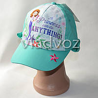Детская летняя кепка панамка бейсболка для девочки принцеса София бренд C&A