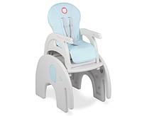 Детское кресло стул для кормления трансформер Lionelo Eli 5 в 1 Голубой