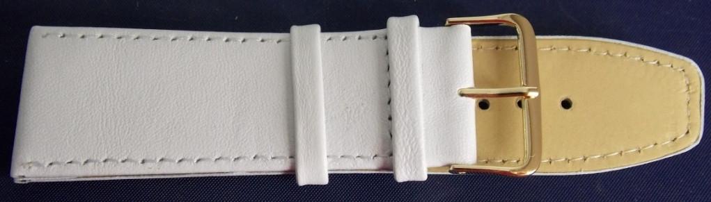 Ремешок кожаный LUX-PL (Польша) 26 мм, белый