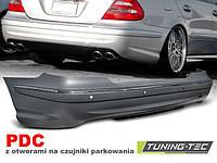 Бампер задний Mercedes E W211 стиль AMG E63