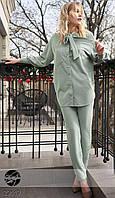 Костюм с удлиненной рубашкой мятного цвета. Модель 20440. р.42-48, фото 1