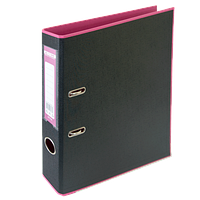 Двухсторонняя папка регистратор А4 buromax bm.3006-10c розовая 50мм pp