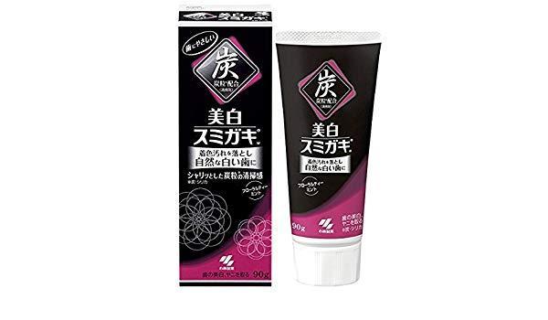 Паста зубна відбілююча c вугіллям і ароматом квіткового чаю KOBAYASHI 90 г (03643)