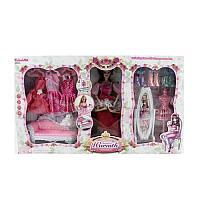 Мебельдля куклы барби гостиная в классическом стиле, кукла шарнирная, диван, платья, 6953-A