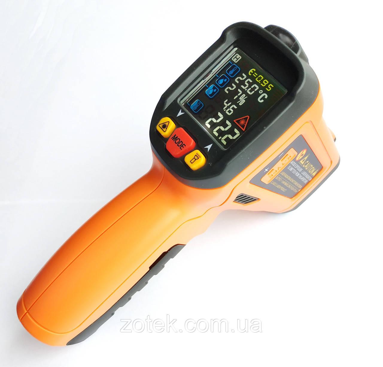 PEAKMETER PM6530D -50 ~ 800ºC Пирометр с термопарой, точка росы, влажность. EMS: 0,1-1,00, Инфракрасный