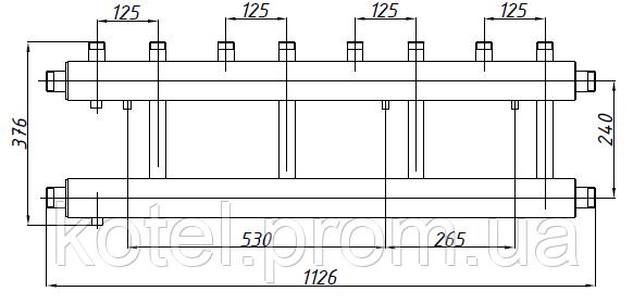 Размеры коллектора СК 452.125