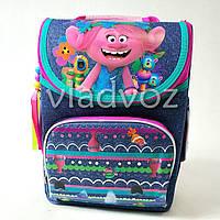 Школьный каркасный рюкзак для девочек синий Trolls Тролли