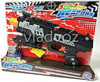 Детский пистолет с присосками Super Weapons черный