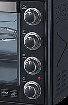 Электрическая духовка  LIBERTON LEO-650 Black Mirror (65л, конвекция, вертел, подсветка), фото 2