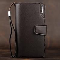 Мужской кожаный кошелек коричневый в стиле Baellerry Business