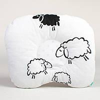 """Подушка для головы новорожденного 22х26 см, """"Белоснежные барашки"""""""