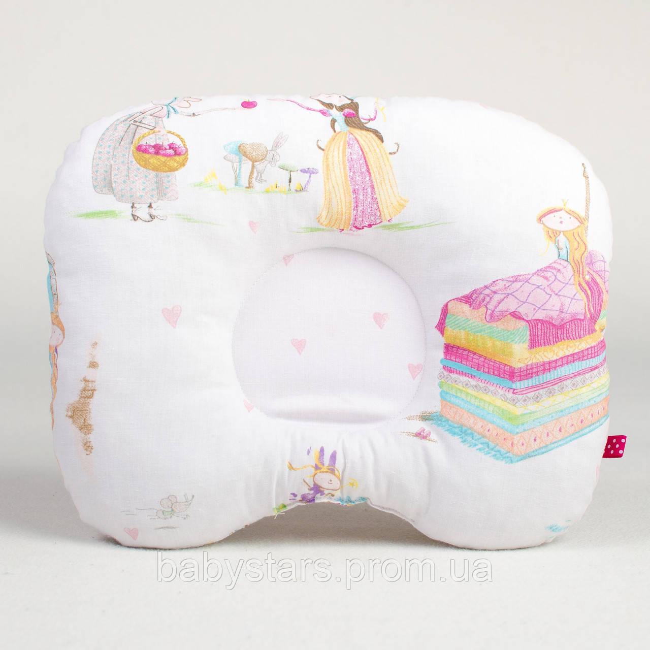 """Детская ортопедическая подушка для новорожденных 22х26 см, """"Принцессы из сказок"""""""