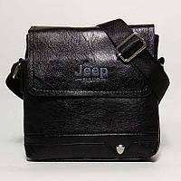 Мужская сумка через плечо в стиле Jeep черная кожа pu